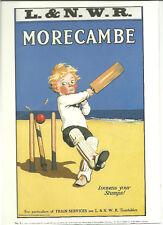 Railway Poster 9: LNWR London & North Western Railway Cricket on Morecambe Beach