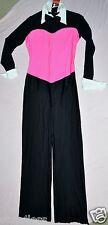 Nwt Adult size XLarge  -tuxedo look dance  Costume bodysuit Unitard Jazz Legs