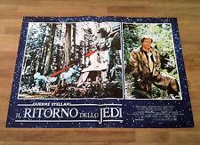 GUERRE STELLARI IL RITORNO DELLO JEDI fotobusta poster Sci Fi Ewoks Han AL47