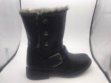 Cipriata Ladies Biker Style Boots Black Lined SALE £19.99 Delivered SIZE 6