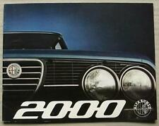 ALFA ROMEO 2000 Car Sales Brochure 1974 #743C200R