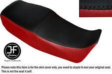 Vinilo Negro Rojo Oscuro automotriz Personalizado Para Suzuki GS 450 e Dual Cubierta de asiento solamente