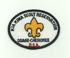 SCOUT BSA KIA KIMA RESERVATION CAMP PATCH CHICKASAW CNCL OSAGE CHEROKEE 1977 TN
