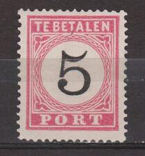 Port 6 A type 3 used Netherlands Indies Nederlands Indie due portzegel