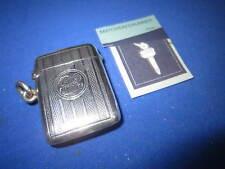 Periodo edoardiano Birmingham 1903 Silver Match Holder VESTA CASE corrispondenza sicuri Striker