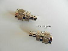 BNC pour type N Adaptateur Mâle Connecteur Convertisseur x 5
