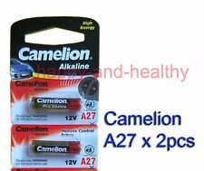 2 pcs Camelion A27 27A MN27 Alkaline Batteries for remotes FREE Shipping