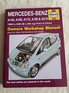 MERCEDES BENZ A CLASS,A140,A160,A170 CDI,A190,A210, HAYNES (4748)  1998-2004
