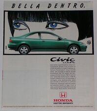 Advert Pubblicità 1994 HONDA CIVIC COUPE