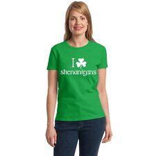 I Shamrock Shenanigans Women's T-shirt funny drinking St. Patrick's Day tee