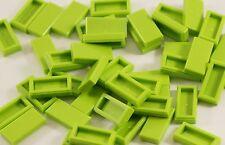 16x Lego® 3069b 1x2 Fliesen hellgrün Tiles lime Bausteine Pieces Parts NEU NEW