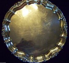 HUGE ENGLISH SHEFFIELD SILVER on COPPER SERVING TRAY ~ SEE OUR OTHER LISTINGS