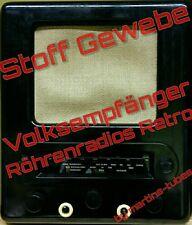Lautsprecher Stoff Schallwandstoff Volksempfänger Röhrenradio VE301 DKE38 25x25