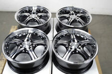 15 4x100 4x108 Black Rims Fits Ford Focus Fiesta Miata Civic Versa 4 Lug Wheels