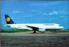 (wn5) Airplane Postcard: Lufthansa, Airbus A320-211