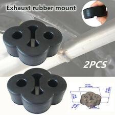 2Pcs 2 Holes Car Rubber Exhaust Tail Pipes Mount Bracket Hanger Insulator Refit