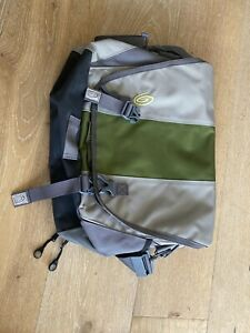 Timbuk2 Messenger Bag Nylon Crossbody Gray Green