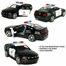"New 5"" Kinsmart 2006 Ford Mustang GT Police Car Diecast Model Toy Cop 1:38"