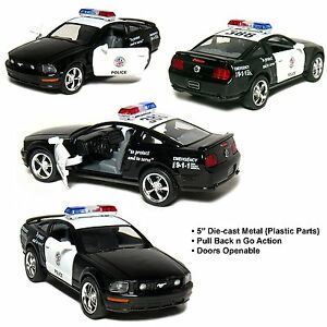 """New 5"""" Kinsmart 2006 Ford Mustang GT Police Car Diecast Model Toy Cop 1:38"""