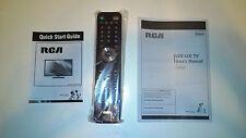 "RCA 42"" LED LCD TV LED42C45RQ Remote Control & Manual & Guide *New & Original*"