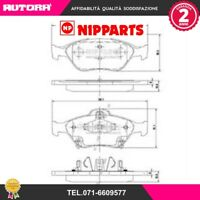 N3602130 Kit pastiglie freno, Freno a disco (NIPPARTS)