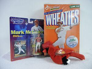 St. Louis Cardinals Mark McGwire Lot : Wheaties Box, Beanie and Baseball Figure