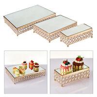 Metall kuchen stand kristall perlen rechteck dessert cupcake hochzeits torte