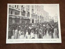 Trieste nel 1900 Onoranze funebri per la morte di Re Umberto I di Savoia Comune
