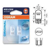 2 x Osram 380W W21/5W Capless Brake Stop Light Bulb 580 12v 21/5w 7515