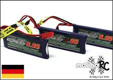 3x Turnigy nano-tech 950mah 1S 25~50C Lipo Akku NEU OVP 3,7V Walkera V120 X100