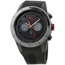 Puma Fast Track Chronograph Black Dial Silicone Strap Men's Watch PU102821003