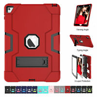 Shockproof Military Heavy Duty Rubber Hard Case Cover With Stand for Apple iPad