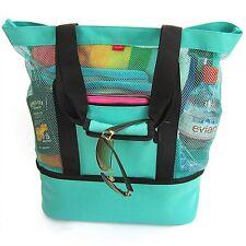 Aruba Mesh Beach Tote Bag, Zipper top, Insulated Cooler & waterproof cell case