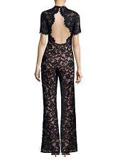 ALEXIS 'Kelie' Jumpsuit (XS) $693 NWT SOLD OUT - Black Floral Lace