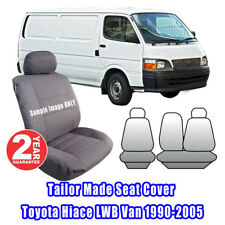 Custom Made Seat Covers For Toyota Hiace LWB Van 1990-2005 Front ROW Grey