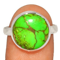Copper Green Turquoise - Arizona 925 Sterling Silver Ring s.9 AR213543  XGB