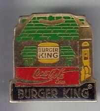 RARE PINS PIN'S .. COCA COLA COKE RESTAURANT BURGER KING FRANCE HAMBURGER 1  ~17