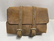 Vintage Antique Bicycle Motorcycle Leather Tool Bag