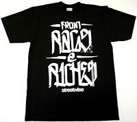 STREETWISE RAGS 2 RICHES T-shirt Urban Streetwear Tee Men  Black NWT