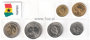 GHANA SET 1984 / 1999 - 6 coins ( 1, 5, 10, 20, 50, 100 CEDIS ) UNCIRCULATED