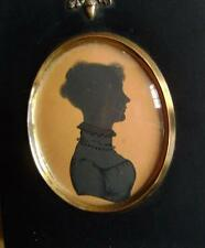 More details for silhouette  a young lady facing right  alfred herve (attrib) c1840