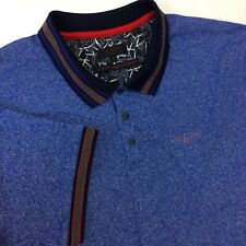Ted Baker Mens Size 7 Polo Shirt Golf Blue