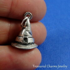 Silver WITCH HAT Witch's Wizard Halloween CHARM PENDANT *NEW*