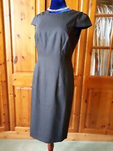 BNWT Austin Reed/ Hobbs Charcoal Wool Pencil Dress Size 10 RRP £175