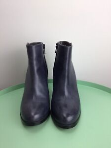 MIDAS Navy Leather Ankle Boots Labelled Size 36