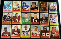 1967 Philadelphia NFL Football Cards Lot Of 19 Cards Good To Fair  See Pics!