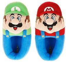 Super Mario Bros Luigi Felpa Pantofole Nwt Ragazzi Misura 11/12,13/1 O 2/3,