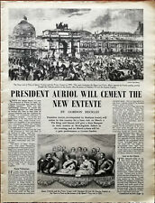 President Auriol Will Cement The New Entente Vintage Article 1950