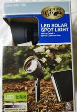 Hampton Bay LED Solar Spot Light Black Finish Metal Construction