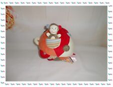 ◘ - Grande Balle Souple Donkey Monkey Grelot Orange Beige ..... Tigex